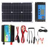Solar Power System 18W 18V Solarpanel Batterie Ladegerät 3000W Wechselrichter 30A 12/24V Solar Controller USB Satz