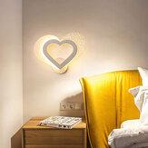 Moderne en forme de coeur LED applique murale chambre salon couloir chevet lumière décor 85-265 V