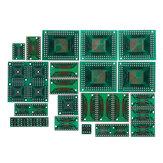 90 pcs Placa PCB Kit SMD Ligue Para DIP Adaptador Placa Conversora FQFP 32 44 64 80100 HTQFP QFN48 SOP SSOP SSOP TSSOP 8 16 24 28