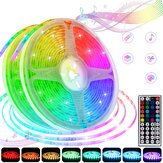 5M/10M 5050SMD RGB Waterproof/Non-waterproof LED Strip Light+Remote Control+UK Power Adapter DC12V