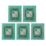 5pcs QFP TQFP LQFP FQFP 32 44 64 80 100 LQF SMD Se tourner vers DIP Adaptateur Carte de convertisseur de platine 0.5 / 0.8 mm Adaptateur IC