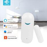 Tuya Inteligentny czujnik drzwi WiFi Czujnik okna Drzwi otwarte / zamknięte Detektory Wifi Home Alarm kompatybilny z aplikacją Alexa Google Home Tuya