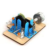 Bilimsel Clockwork Jeneratör Enerji Dönüşüm DIY Fizik Motor Deney Oyuncak
