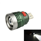 XANES 2401A XPE 120Lumenów 3Modes USB Rechargeable Portable Zoomable USB Light LED Latarka Head