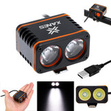 XANES 1200LM 2xT6 LED 4-Mode Waterproof Bike Light Temperature Control Power Display No Batt