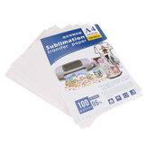 100шт печать на футболках гладильная машина горячего тиснения Лампа / темная трансферная бумага