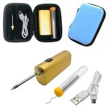 5V 10W Electric Soldering Iron Tool Kits Lithium Battery Portable Soldering Iron USB Charging Soldering Tool