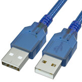 GCX USB Cable Male to Male Extension Cable Data Cable Core Wire USB2.0 Cable 1m 1.5m 3m for Hard Disk Computer PC