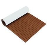 900x2400x5.5mm Dark Brown EVA Foam Teak Boat Flooring Sheet Yacht Synthetic Teak Decking Pad