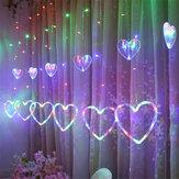 ستارة النافذة LED سلسلة الأنوار عيد الميلاد بقيادة زفاف عيد الحب حزب الجنية زينة