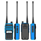 BAOFENG X3-Plus 18W 9500mAh Walkie Talkie 20 KM Tri-band Rádio impermeável UHF / VHF 9500mah Transceptor de rádio 76-108MHz Azul com lanterna