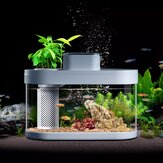Geometry Fish Tank From Smart Feeder 7 Colors LED Light Self-Cleaning High Efficiency Filtration Mini Aquarium With App Control