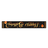 300x50cm Black 420D Oxford Cloth Happy Birthday Banner Party Decoration Photography Props