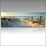 1 Piece Canvas Print Paintings Beach Sea Road Wall Decorative Print Art Pictures FramelessWall Hanging Decorations for Home Office
