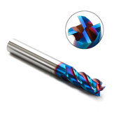 Drillpro 1-10mm 4 Flauti Fresa in Carburo di Tungsteno HRC65 NACO Fresa Rivestita Utensile CNC