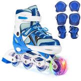 Adjustable Roller Skates Breathable Comfortable Inline Skates Winter Snow Skating Speed Skates for Kids Adult Gift with 1 Flashing Wheel