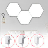3PCS DIY Branco Hexagonal Lâmpada Quantum Modular Touch Sensitive Wall LED Night Light
