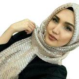 Women Sequin Arabian Hat Arab Wrap Scarf Turban Hat