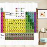 180x180cm Periodisk Tabel af Elements Polyester Shower Curtains Panel Badeværelse Sheer Dekorationer