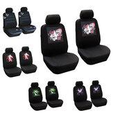 Universeller Autositzbezug mit fünf Sitzen Panda Schädelkopf-Schmetterling Vorder- und Rücksitzbezüge