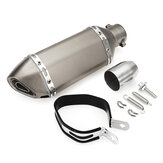 38-51mm Motorcycle Steel Short Exhaust Muffler Pipe With Removable Silencer Universal