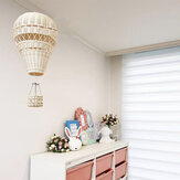Nordic Style Children Bedroom Rattan Weaven Hot Air Balloon Craft Wall Home Hanging Decoration