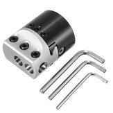 Machifit F1 1/2 Inch 50mm Boring Head Lathe Milling Tool Holder for 1/2 Inch Boring Bar Lathe Tools
