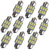 31mm 5630 6-SMD Festoon LED Carte intérieure Dome Ampoule DE3175 3022 3021 2W Blanc 10PCS