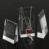 3 Teile / satz Acryl Halskette Ausstellungsstand Transparent Schmuck Showcase Halter Lange Kette Übergabe Organizer