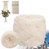 6mm Rope Bükülmüş İp Pamuk Kordon El Yapımı Doğal Bej Rope DIY Ev Düğün Aksesuarları Hediye