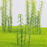 20Pcs HO/OO Scale Model Bamboo Tree for Building Street Scene Layout Architecture Decorations