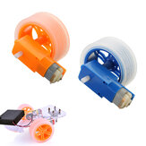 3-6v TT Motor + Rubber Wheel Blue/Orange Color DIY Kit For Arduino Smart Chassis Car Accessories