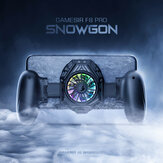 Gamesir F8 Pro Snowgon Game Controller Cooling Gamepad RGB Light Phone Holder Stand Cooling Grip Fan for IOS Android System Mobile Phone