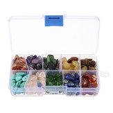 10 rodzajów Naturalny kamień Kwarcowy kryształ Mini Rock Chips Energy Mineral Specimen Decorations