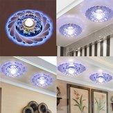 Nowoczesny kryształowy uchwyt sufitowy LED Niebieskie światło Domowy lampa wisząca Superior dla restauracji Corridor