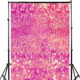 3x5FT 5x7FT Vinyl Pink Shining Glitters Photography Background Backdrop Studio Prop