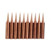 10個純粋な銅のアイロンチップ900M-T-Iはんだ付けのヒント半田付け鉄ステーション