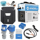 ANDELI MIG-250E AC220V EU Plug Rumah Tangga Digital Single Phase Mini MIG Welding Machine Welding tanpa Gas Flux Core Wire Inverter Welder