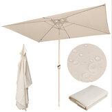 10 pies x 6,6 pies 6 varillas Sombrilla de patio Parasol de repuesto Parasol Sombrilla Cubierta superior Impermeable UV Proteger para al aire libre Jardín