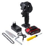 Mini serra elétrica portátil 4 '' 24 V recarregável sem fio ferramenta de corte de madeira serra elétrica portátil com nenhum / 1 unidade / 2 unidades Bateria