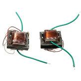 2Pcs 10KV Transformador de alta frequência e alta tensão Booster Inversor de bobina