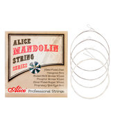 Alices AM08 Mandolin Strings Plated Steel&Silver-Plated Copper Wound Strings 1st-4th 010-034