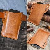 Men Retro Genuine Leather Phone Bag Waist Bag Belt Bag EDC Bag For Outdoor