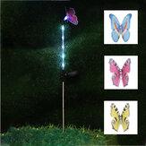 3PCS solare farfalla alimentata LED prato prato palo giardino cortile paesaggio esterno lampada Decor
