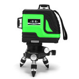 Laser Level 12 Lines Green Self Leveling Vertical Horizontal 3D Leveling Tool 4000mAh Lithium Charge