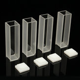 4Pcs 10mm Cuvette Cell Micro Optical Glass Spectrophotometer Cuvettes 3.5ml