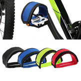 BIKIGHT 1 Pair Bicycle Foot Pedal Straps Belt Fixed Gear Anti-slip Toe Clips