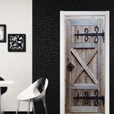 3D Retro Alte Tür Wandbild Wandaufkleber Vinyl Abnehmbare Aufkleber Tapete Home Room Decor