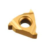 Drillpro 10pcs 11IR A60 Inserção de metal duro Inserção de rosca interna para suporte de ferramenta de torneamento