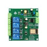 AC / تيار منتظم القوة العرض ESP8266 WIFI رباعي الاتجاه وحدة الترحيل ESP-12F تطوير المجلس الثانوي